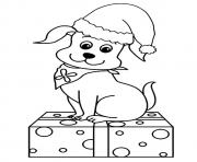 The Christmas Pup puppy coloring pages