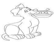 The Pup With His Food Bowl puppy coloring pages