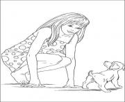 barbie and a puppy bc30 coloring pages