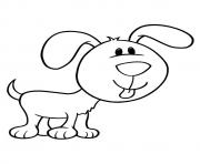 the pup with a large face puppy coloring pages