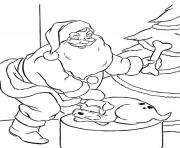 coloring pages of santa claus and puppys present54da