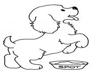 The Hungry Pup puppy coloring pages