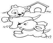 The Pups Playing puppy coloring pages