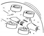 Print the race car dot to dot coloring pages