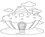 Printable The Cupcake House coloring pages