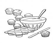 Printable The How to Make Cupcakes coloring pages