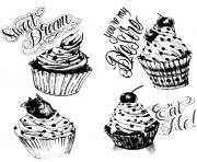Printable coloring adult cupcakes vintage coloring pages
