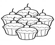 cupcake silhouette 8 Coloring pages Printable