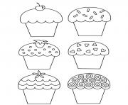 Printable sweet cupcake b059 coloring pages