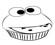 Printable funny cupcake coloring pages