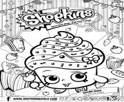 Printable shopkins cupcake queen coloring pages