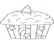 Printable halloween cupcake star moon coloring pages