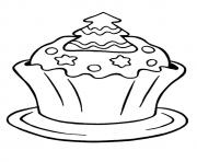 Print christmas cupcake coloring pages