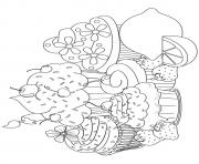 Printable cupcake13 coloring pages