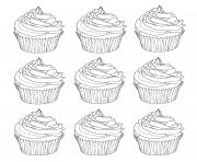 Printable cupcakes warhol coloring pages