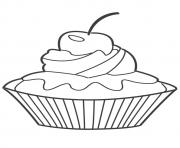 Printable cupcake coloring berry coloring pages