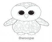Print swoops 2 beanie boo coloring pages