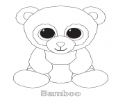 Printable bamboo beanie boo coloring pages