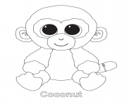 Printable coconut beanie boo coloring pages