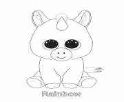 rainbow beanie boo coloring pages