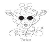 Printable twigs beanie boo coloring pages