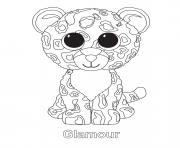Printable glamour beanie boo coloring pages