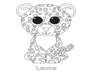 Printable leona beanie boo coloring pages