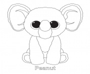 peanut beanie boo coloring pages