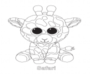 Print safari beanie boo coloring pages