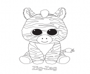 Print zig zag beanie boo coloring pages