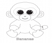 Printable bananas beanie boo coloring pages
