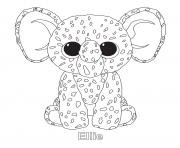 Printable ellie beanie boo coloring pages