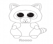 Print rocco beanie boo coloring pages