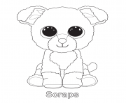 Printable scraps beanie boo coloring pages