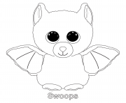 Print swoops beanie boo coloring pages