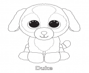 duke beanie boo coloring pages