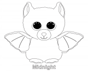 Printable midnight beanie boo coloring pages