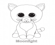 Printable moonlight beanie boo coloring pages