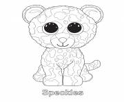 speckles beanie boo coloring pages