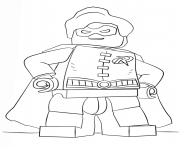 Lego Batman Robin Colouring Print Coloring Pages