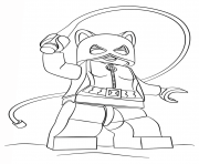 Printable lego batman catwoman coloring pages