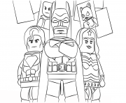 Printable lego super heroes coloring pages