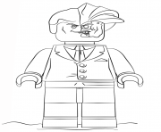 Lego Batman Two Face Coloring Pages Printable