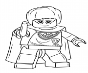 Print lego harry potter with wand coloring pages