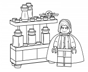Print lego severus snape harry potter coloring pages