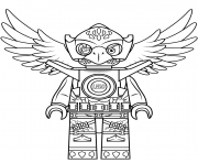 Print lego chima eagle eris coloring pages