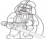 Printable lego star wars darth vader coloring pages