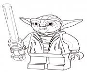 Printable lego star wars master yoda coloring pages