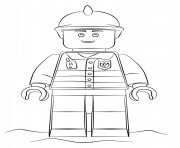 Printable lego fireman city coloring pages