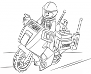 Printable lego moto police city coloring pages